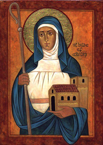 Icon of St Hilda of Whitby, Abbess of Whitby.