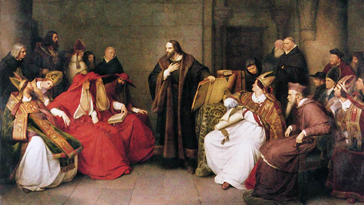 Jan Hus at the Council of Constance. 19th-century painting by Karl Friedrich Lessing